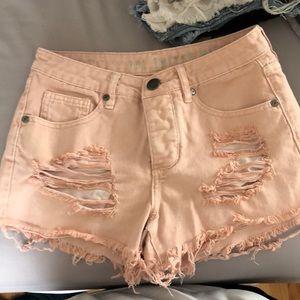 Cotton On Light Pink Denim Shorts